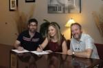 L-R Ty Gilpin (A&R Director for Pisgah Ridge), Kristy Cox, Tim Surrett (Staff Producer, Pisgah Ridge)