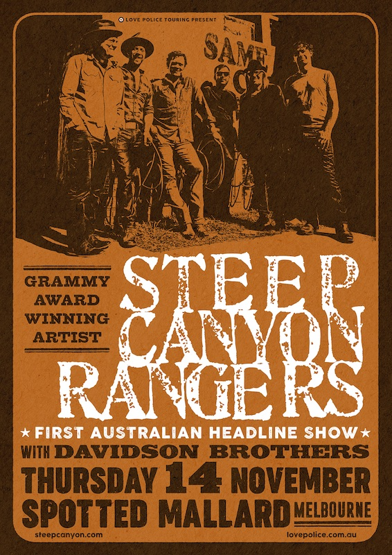 Steep Canyon Rangers in Australia